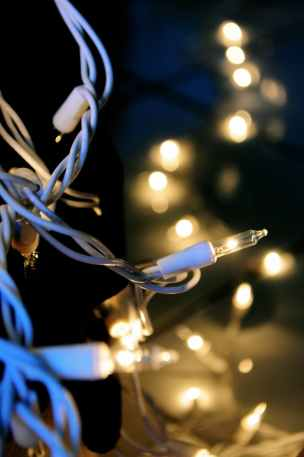 close up photo of stringlights